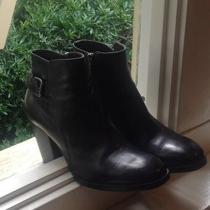 Objects in mirror ankle boots